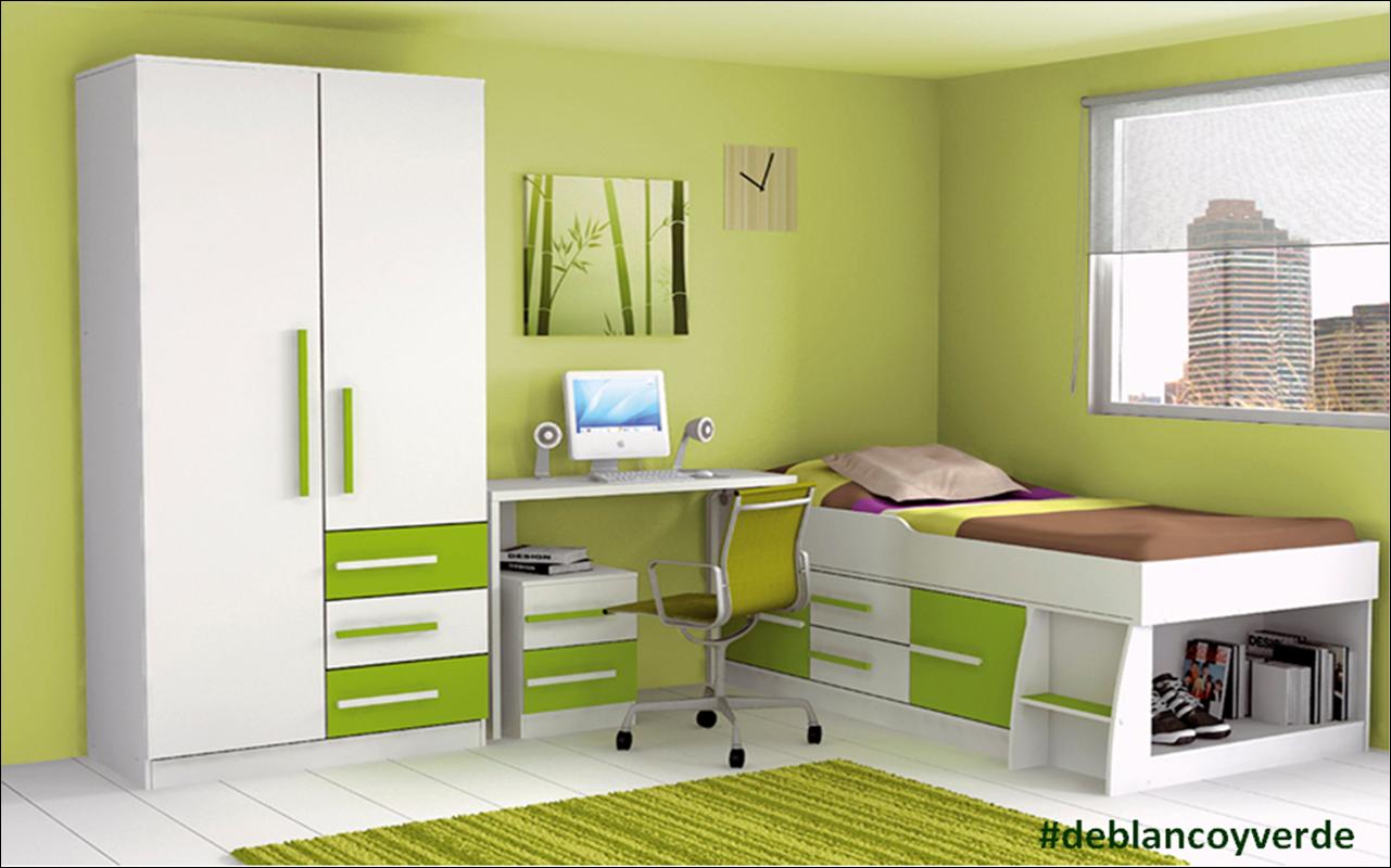 Pintura y madera deblancoyverde en pintura y madera for Dormitorio blanco y madera