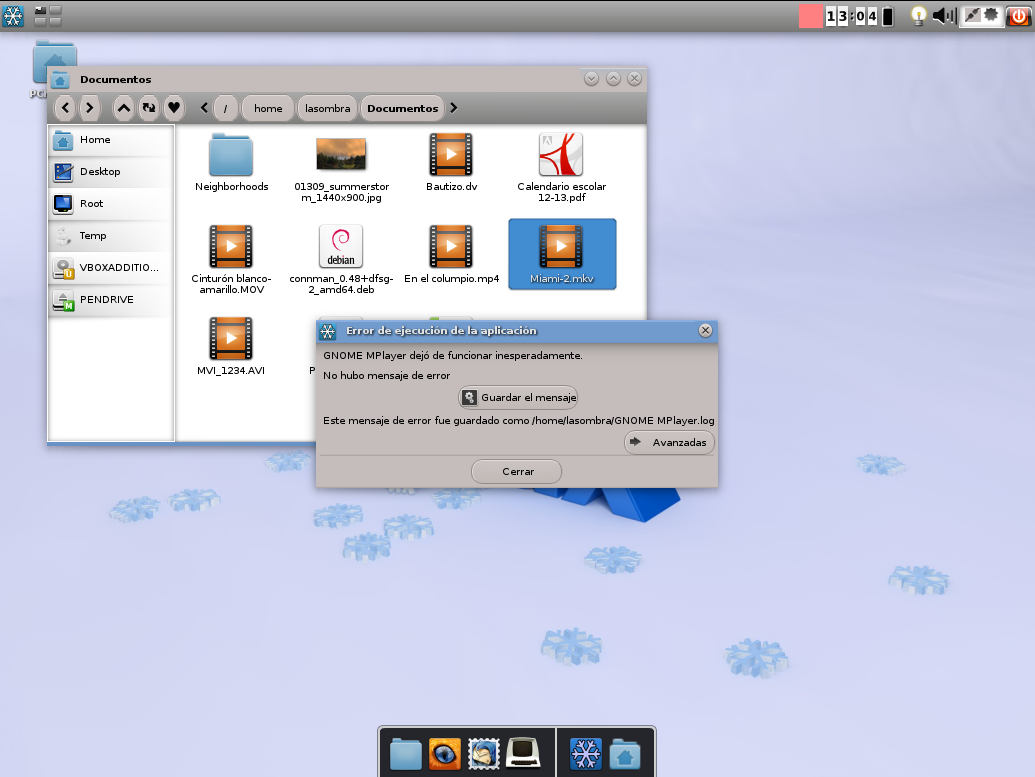 MPlayer en Snowlinux