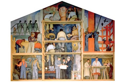 Ward melville high school library sra gisela muller for Diego rivera mural san francisco art institute