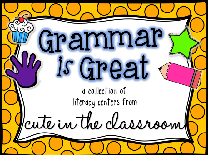 http://www.teacherspayteachers.com/Product/Grammar-is-Great-Literacy-Centers-Pack-1177607