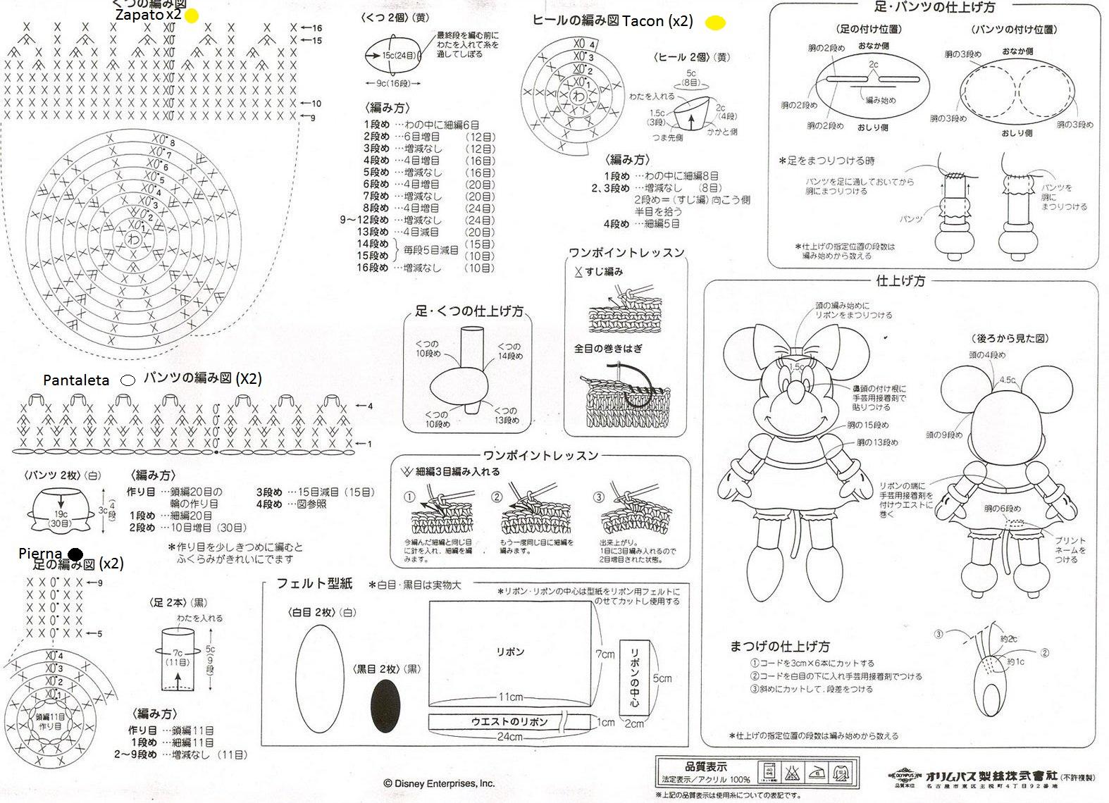 Tejiendo Sueños: Minnie Amigurumi crochet + Patrón
