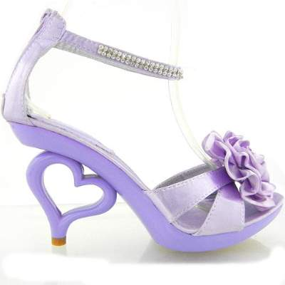 High Heel Purple Sandals