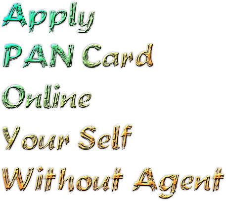 Apply Pan Card Online Your Self Without Agent