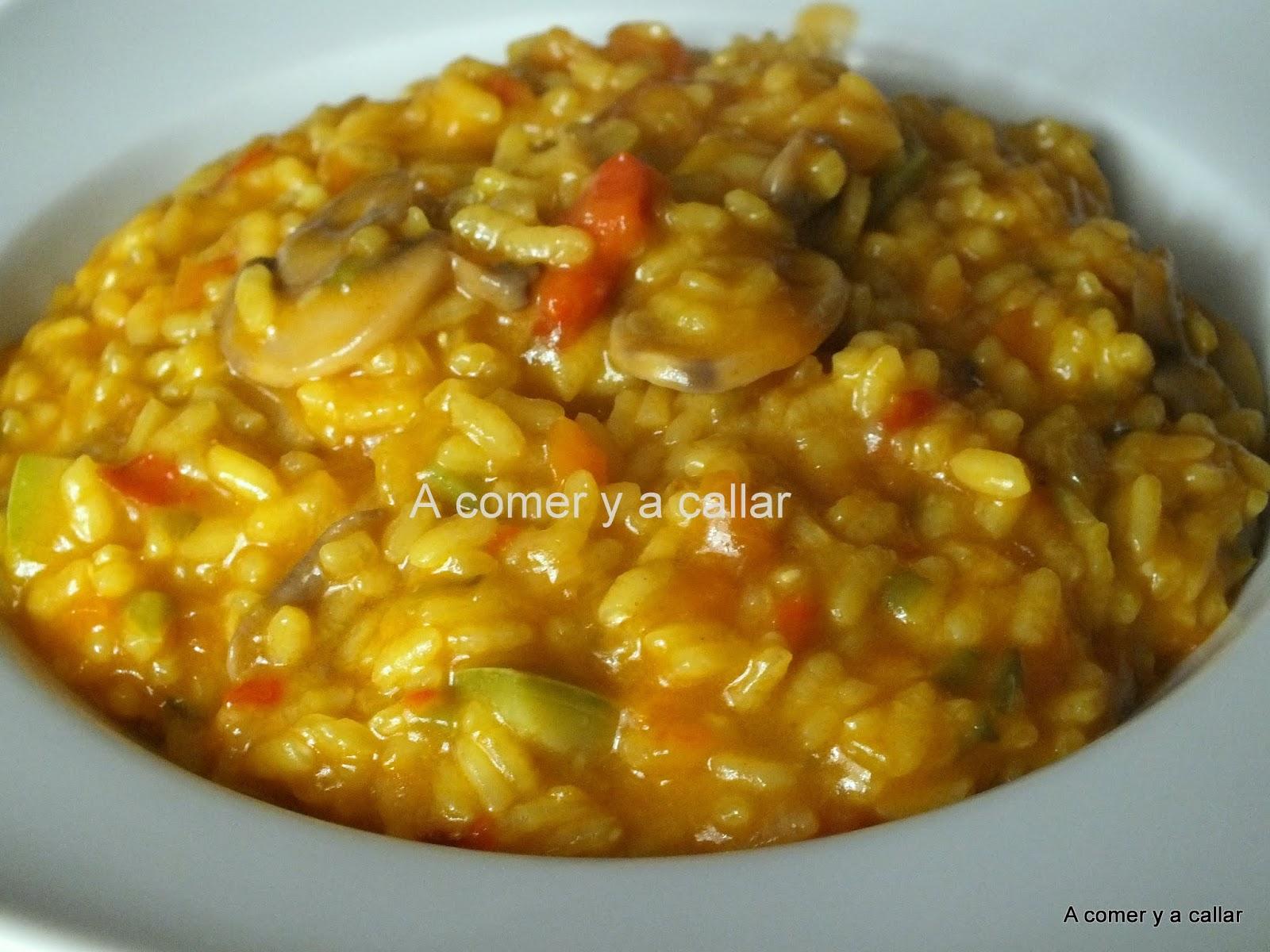 A comer y a callar arroz con verduras con thermomix - Arroz con pescado y verduras ...