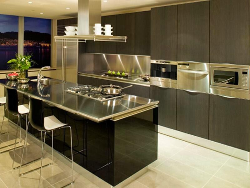 Modern Stainless Steel Kitchen Table Design Ideas