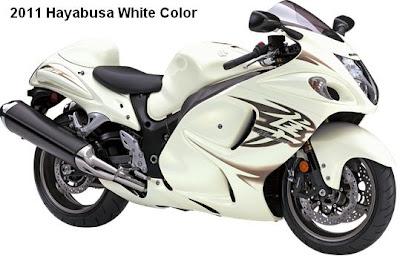 2011 Suzuki Hayabusa white color