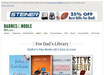 June 1, 2012 Barnes & Noble email