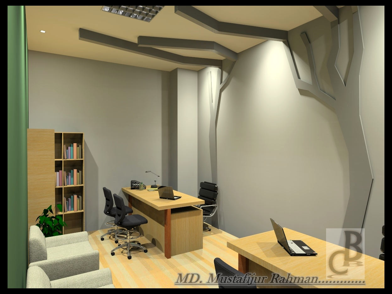 Black cat company ltd office design in kawran bazar for Director office room design