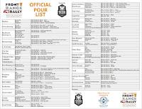 FFR Pour List 5-15-13