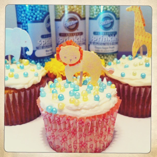 the full time wife animal theme baby shower cupcake