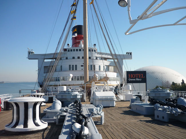 ... on the planet – the Hotel Queen Mary over in Long Beach, California