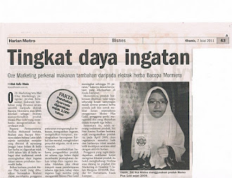 Keratan Akhbar - Pelajar Tahfiz Tingkat Ingatan
