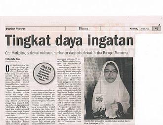 Keratan Akhbar - Pelajar Tahfiz Tingkat Ingatan