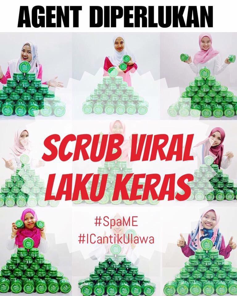 Agent Scrub Hijau Viral diperlukan seluruh Malaysia, Singapura dan Brunei