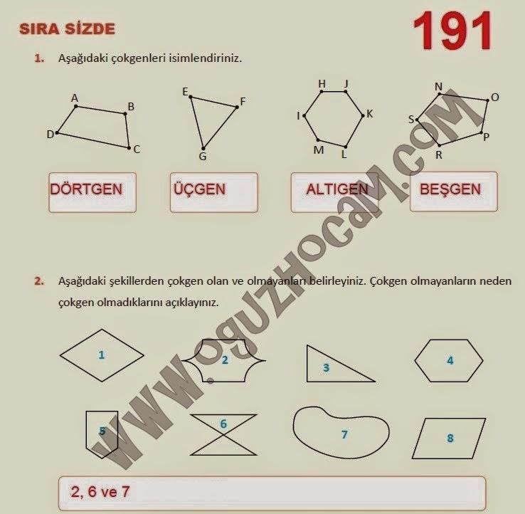5 Sınıf Matematik Ders Kitabı Cevapları Meb Yayınları Sayfa 191