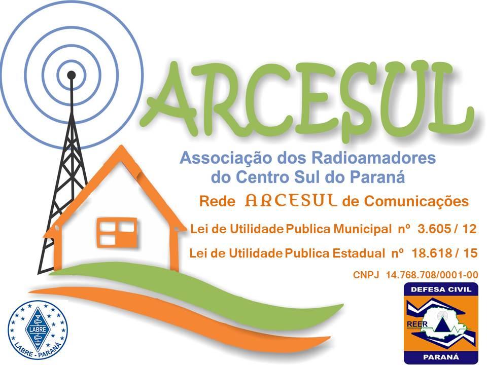 ARCESUL - Associação dos Radioamadores do Centro Sul do Paraná.