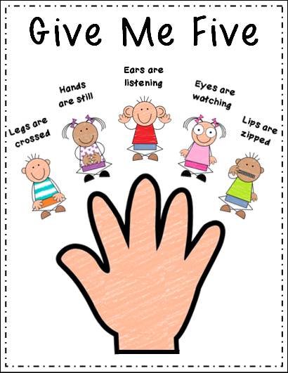Modern Classroom Management Strategies : Peace love and learning quot give me five freebie