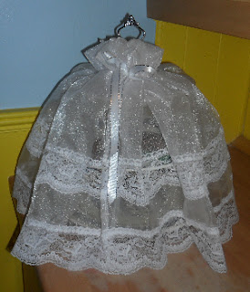An Organza Cake Stand Cover or Skirt to Protect Cakes and Pastries on Your Cake Stand