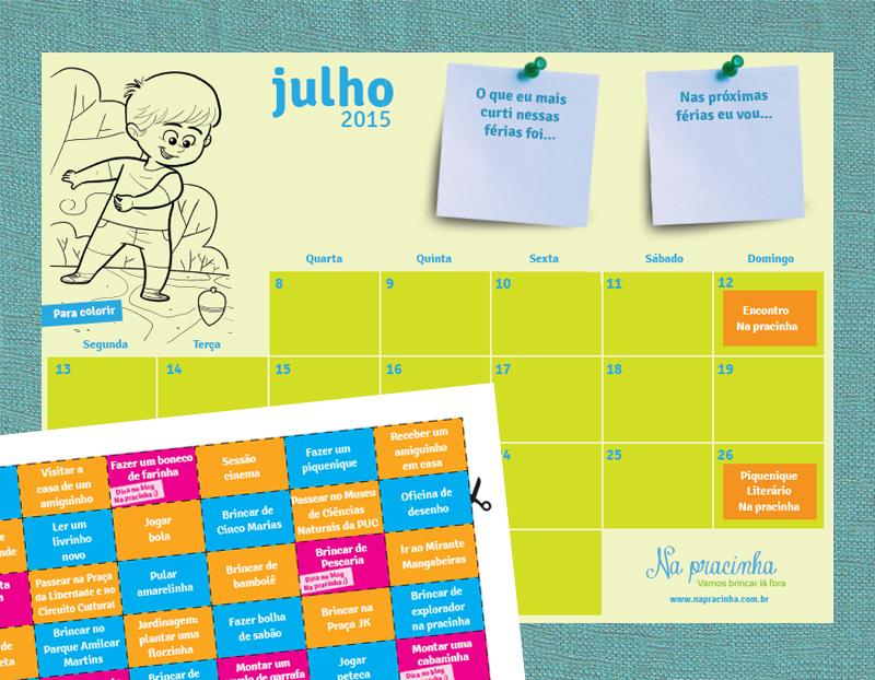 Na pracinha calend rio de f rias julho 2015 for Calendario ferias