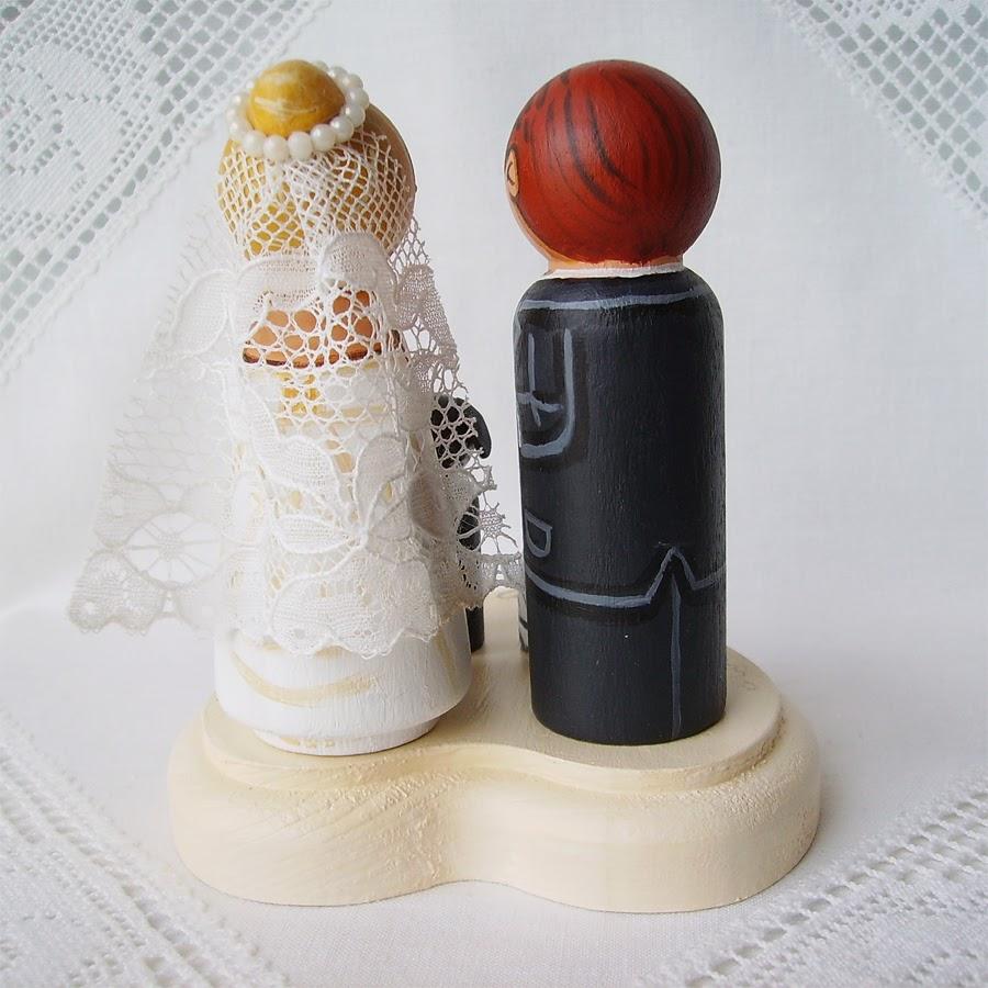 Personalizowane na zamówienie malowane figurki figurka ozdoba na tort weselny ślubny dekoracja tortu panna młoda pan młody nowożeńcy pies kot supermen kibic bukiet tren welon