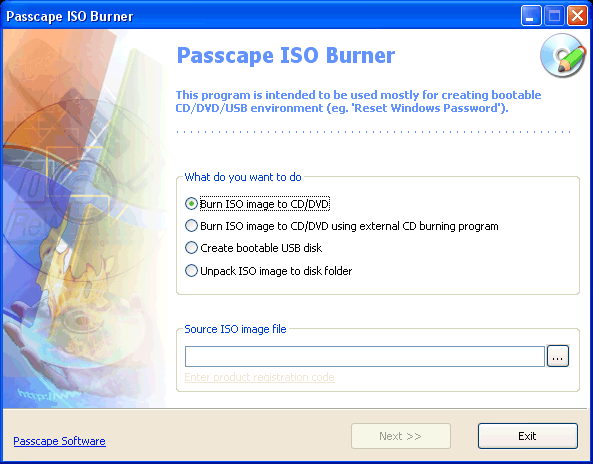 Passcape ISO Burner Free Tool and Portable