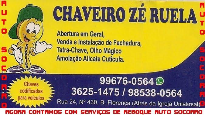 CHAVEIRO ZÉ RUELA RIBEIRÃO DAS NEVES