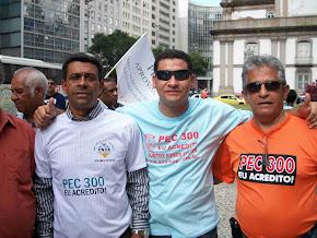 Sargento Prado lutando pela PEC 300 no Rio de Janeiro