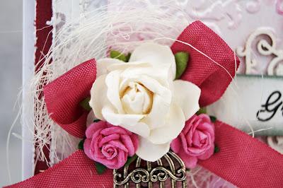 Svatební přání ve stylu shabby chic.