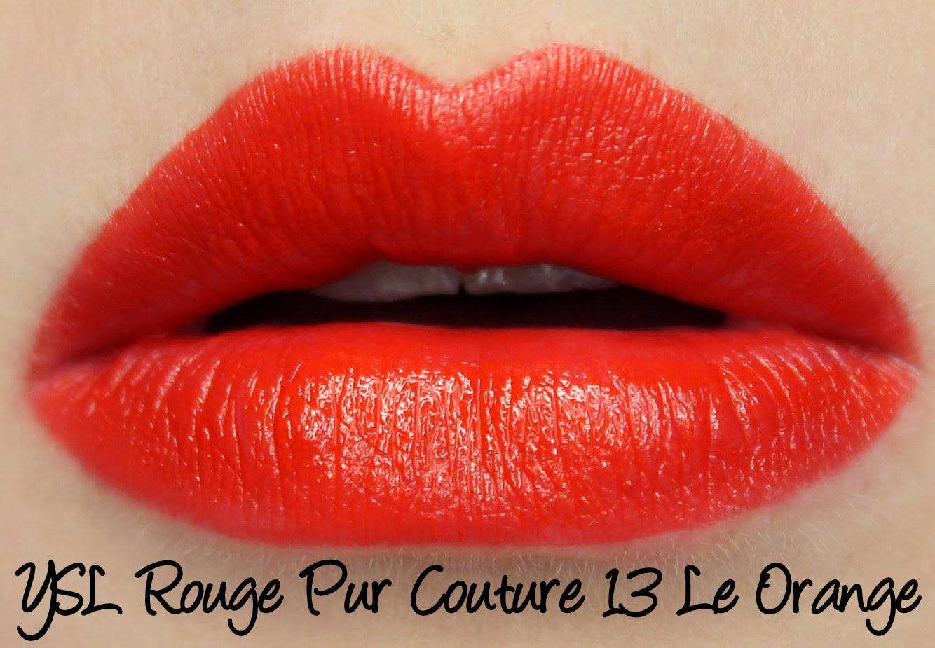 Ysl Rouge Pur Couture 01 Le Rouge 07 Le Fuchsia 13 Le