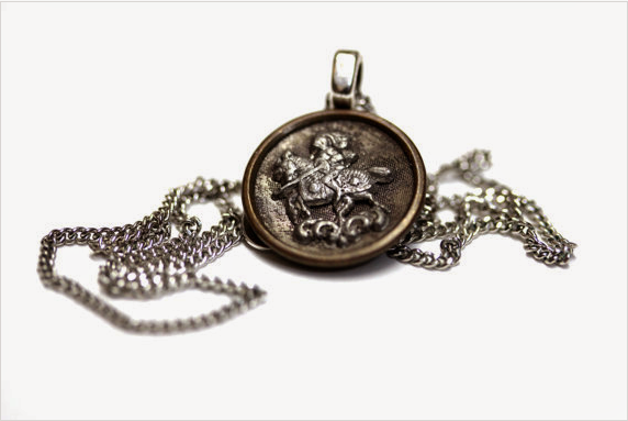 Antique Knight Button Pendant by ChatterBlossom