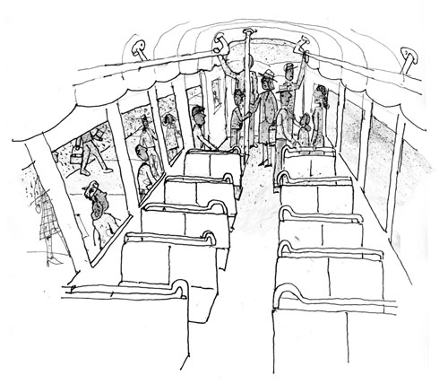 ... -Americans were required to enter and stay in the back of the bus