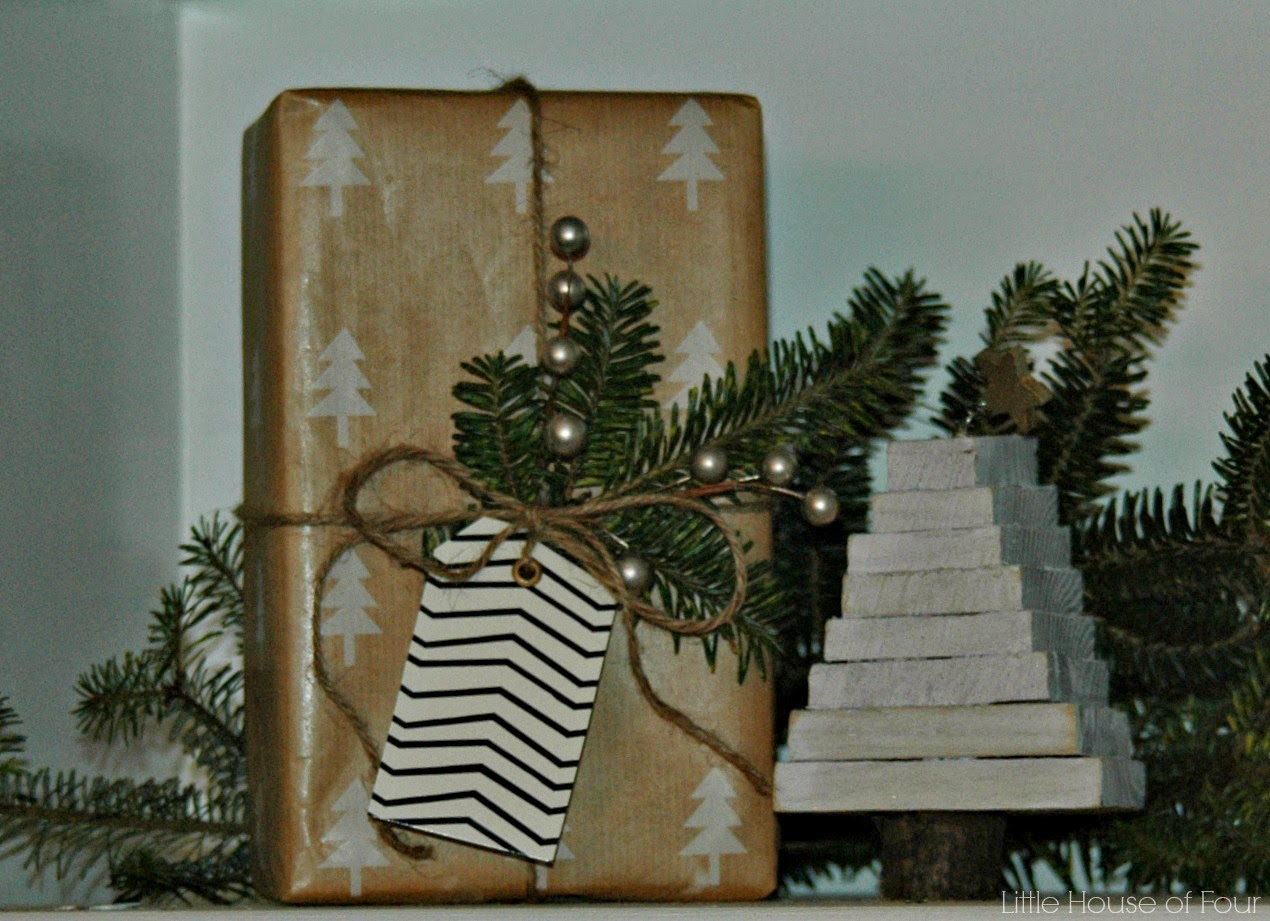 styled Christmas shelf