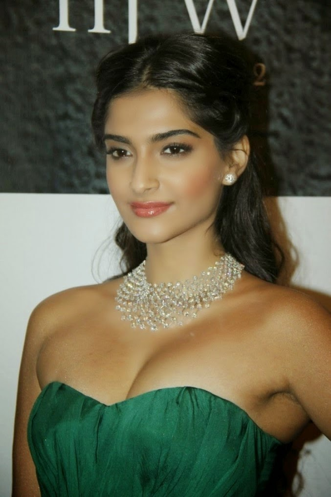 Sonam Kapoor Showing Sexy Cleavage in a Tight Fit Dress