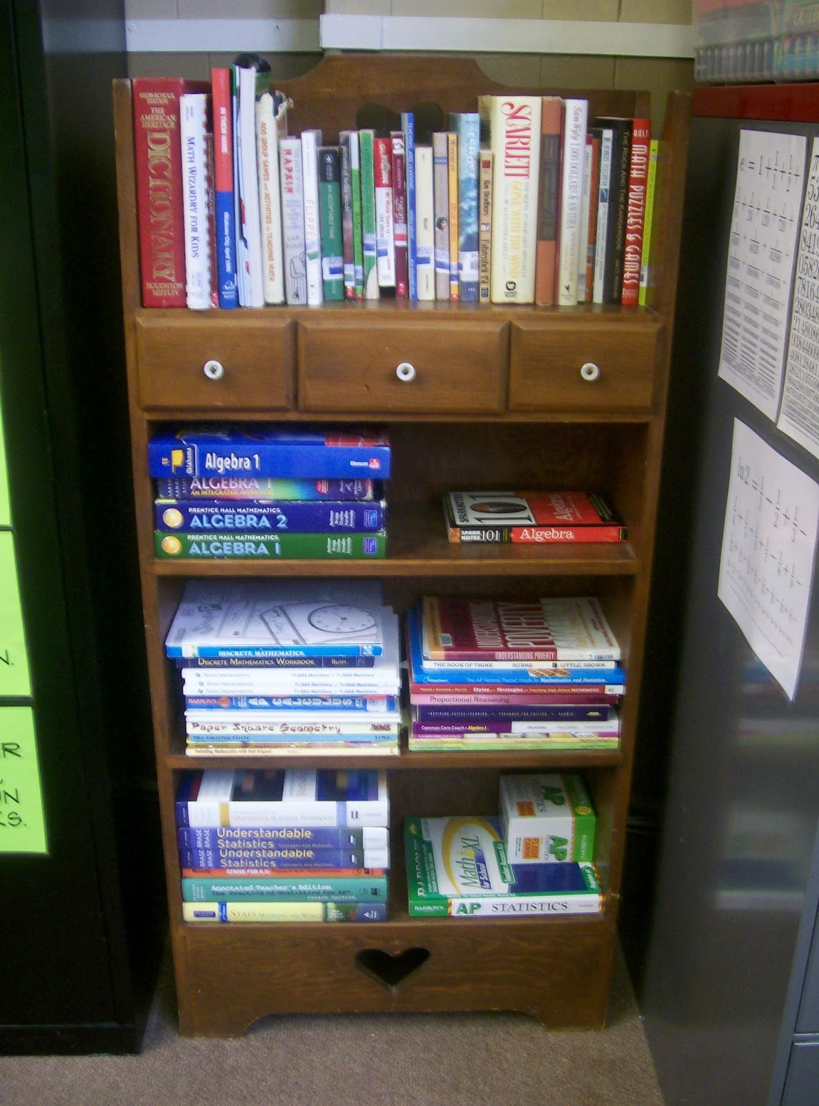 Classroom Bookcase Ideas : Math love classroom pictures