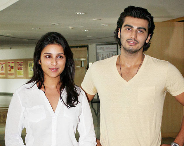 Pictures of Parineeti Chopra with her Ishaqzaade co star Arjun Kapoor