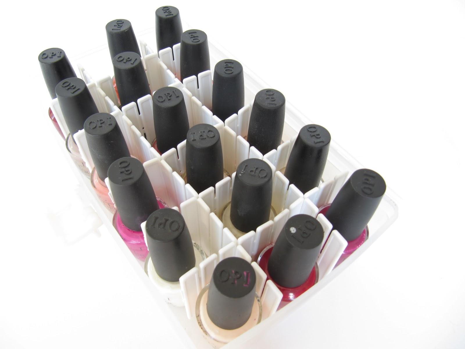 everyday organizing nail polish caddy
