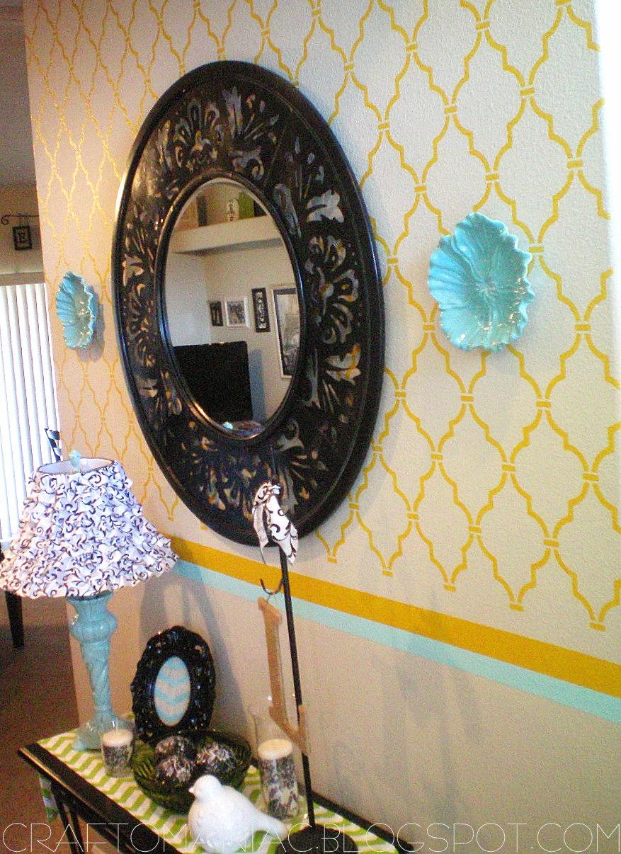 Http Craft O Maniac Com 2011 08 Home Decor Stenciled Wall Html