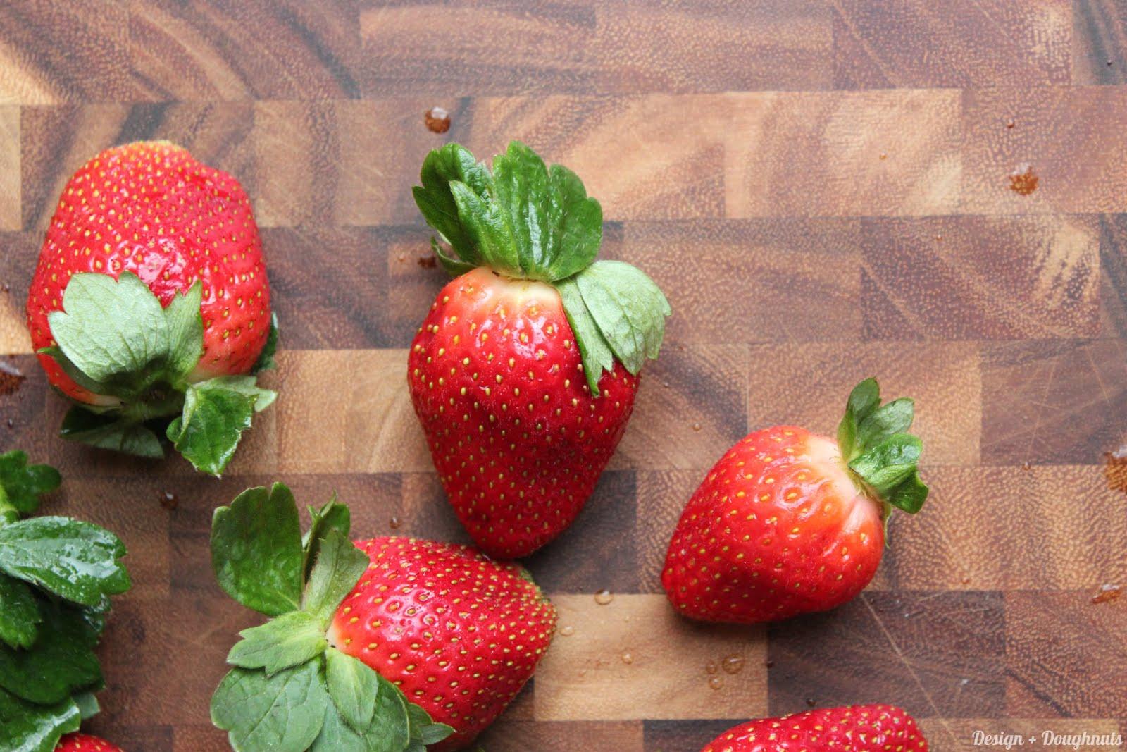 ... : Strawberries, Sugar, Lemon, Liquid Certo, Vanilla Bean Paste