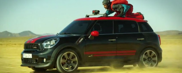 Mini cooper flying