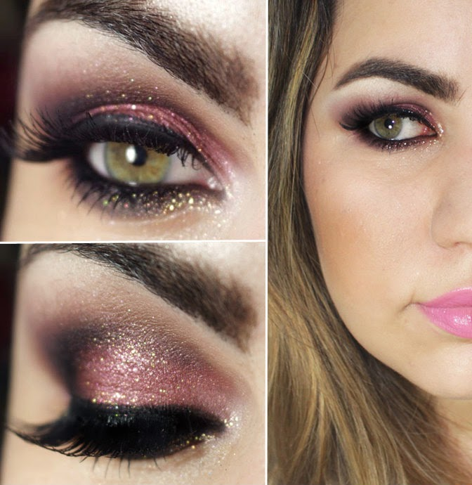 Pink and Wine Smokey Makeup Tutorials