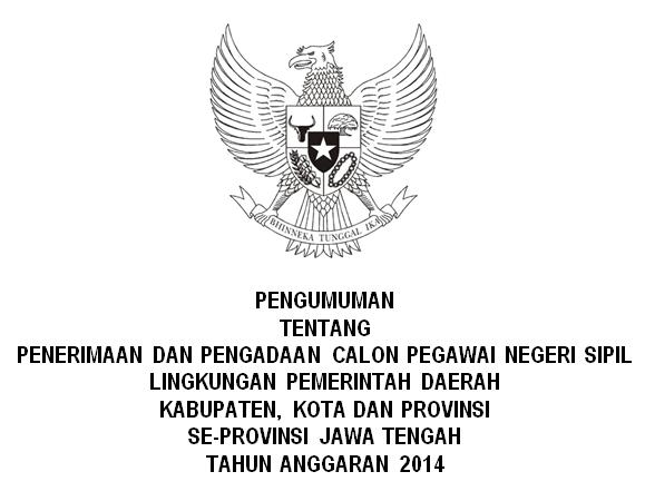 List penerimaan CPNS Seluruh Jawa Tengah