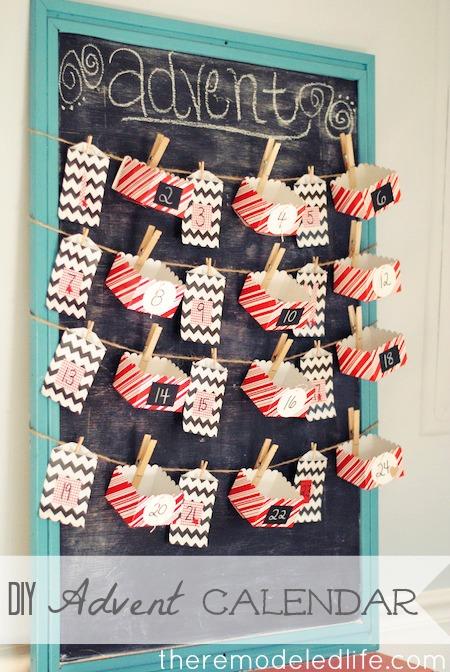 30 diy christmas advent calendars for Homemade christmas advent calendar ideas