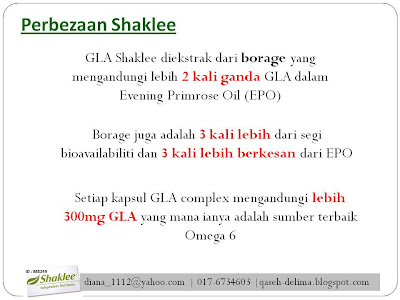 Perbezaan Shaklee GLA Complex
