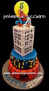 Torta spiderman 3 piani per il mio bimbo e ricetta crema for Decorazione torte spiderman