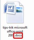 Extensi file