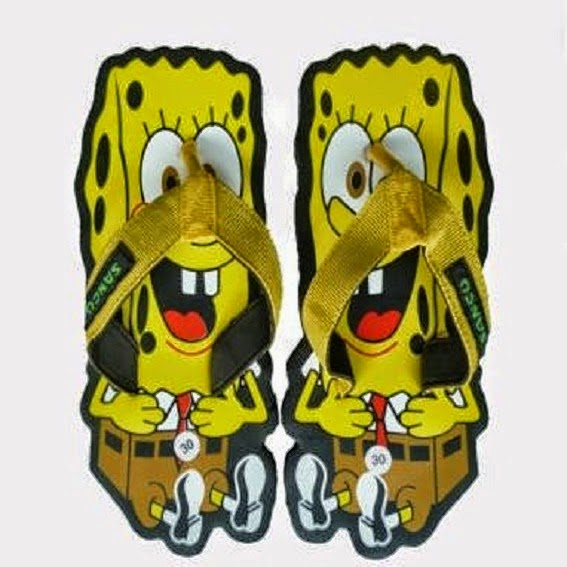Sandal Sancu Spongebob, Sandal Sancu, Sandal Lucu,