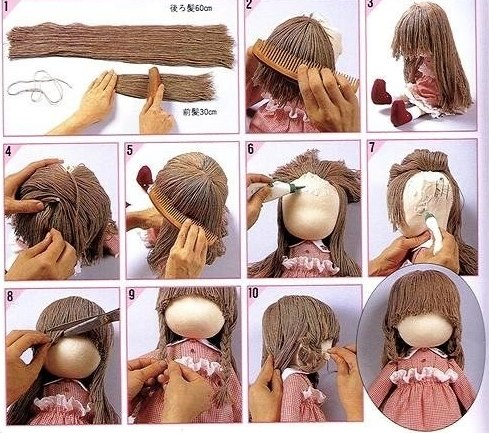 Волосы для куклы своими руками мастер класс