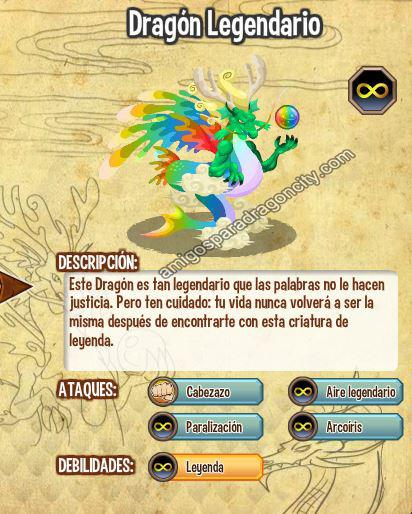imagen del dragon legendario y sus caracteristicas