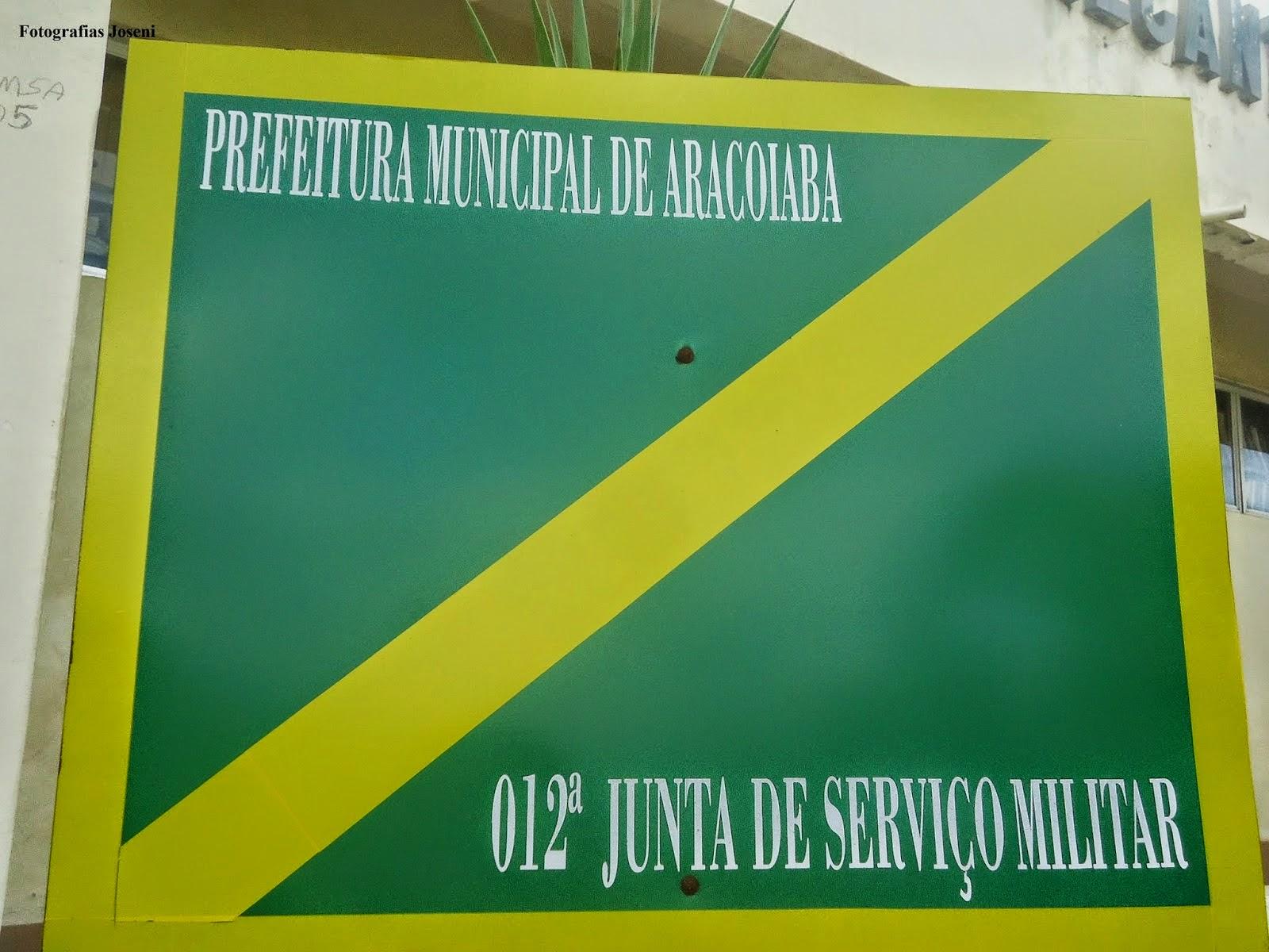 012ª JSM - JUNTA DE SERVIÇO MILITAR DE ARACOIABA