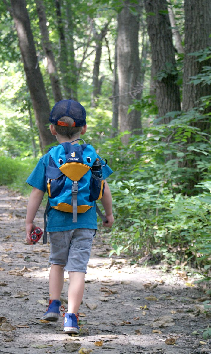 hiking with kids deuter pack